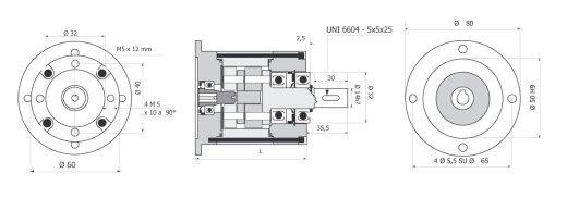 Планетарный редуктор для установки на флянец R 60